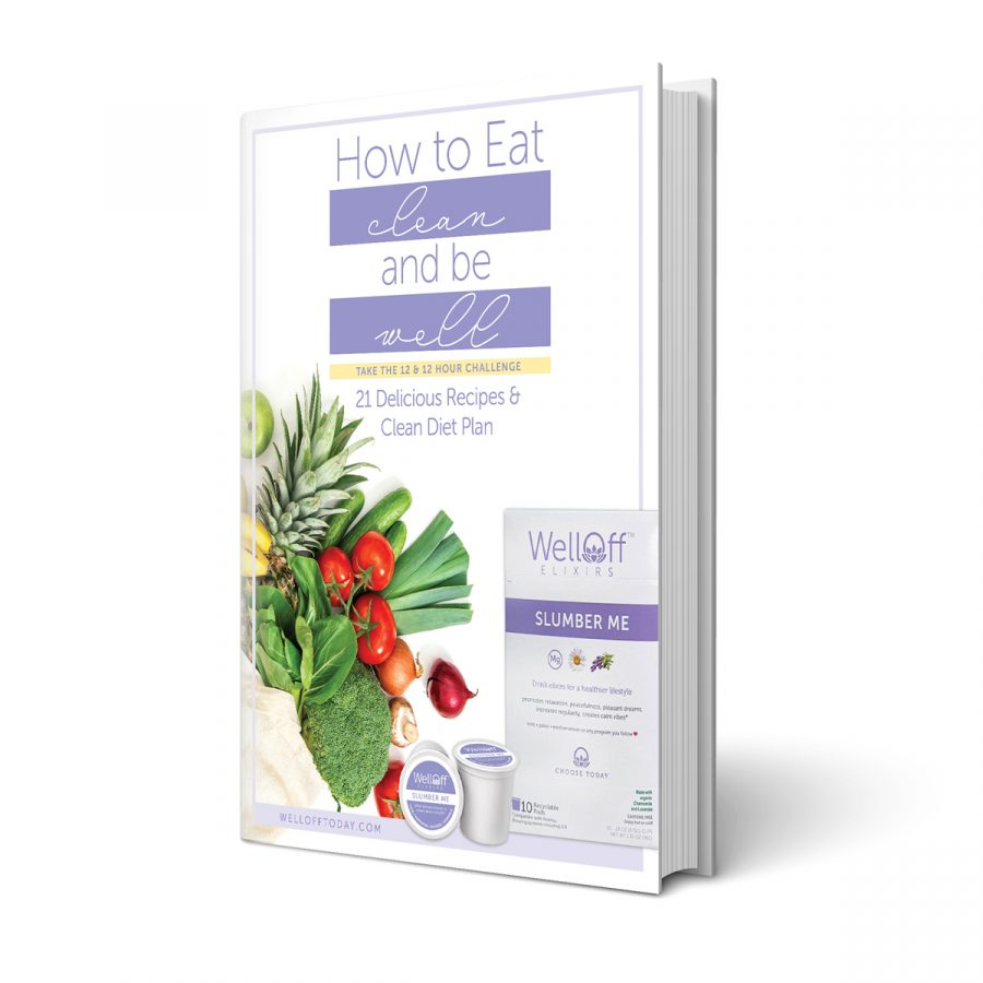 How To Eat Clean And Be Well Book Cover With White Background