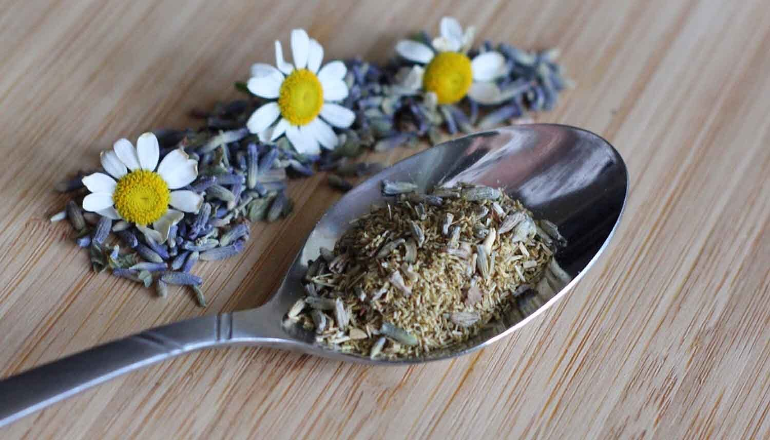 Lavender And Other KCup Ingredients On A Spoon